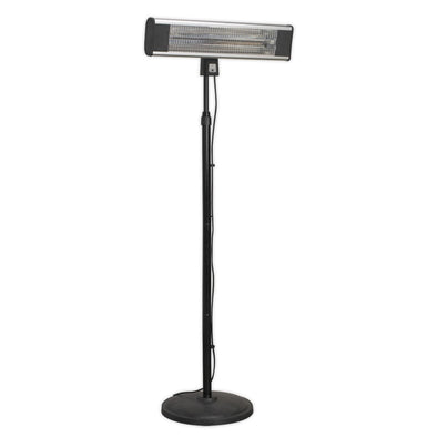 Sealey High Efficiency Carbon Fibre Infrared Patio Heater 1800W/230V with Telescopic Floor Stand