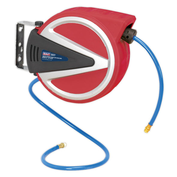 Sealey Retractable Air Hose Reel 10m Ø8mm ID - PU Hose