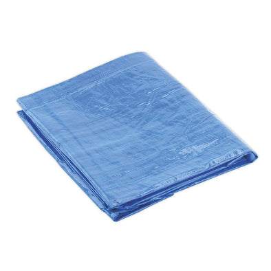 Sealey Tarpaulin 3.05 x 3.66m Blue