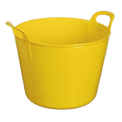 Sealey Heavy-Duty Flexi Tub 40L - Yellow