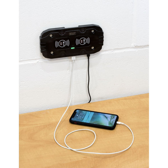 Sealey Wireless Charging Base Double 5V-2A