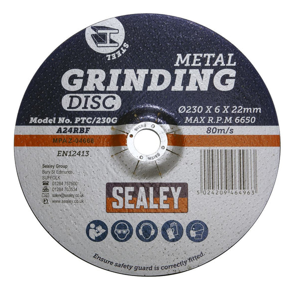 Sealey Grinding Disc Ø230 x 6mm 22mm Bore