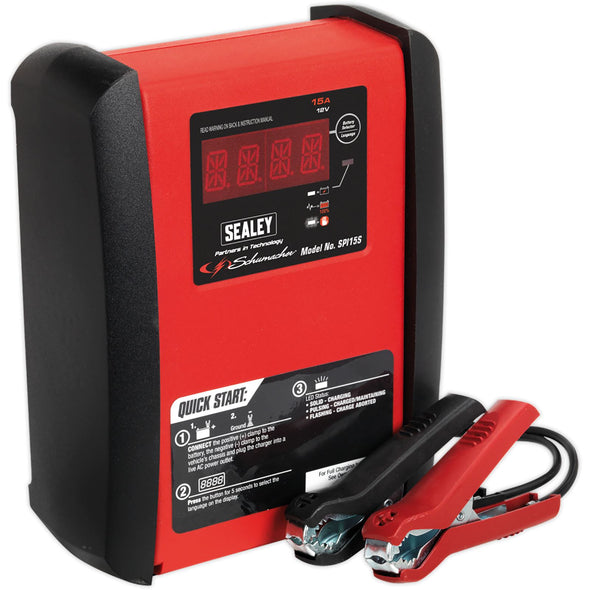 Sealey Schumacher 15Amp 12V Intelligent Battery Charger