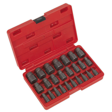 Sealey Multi-Spline Screw Extractor Set 25pc