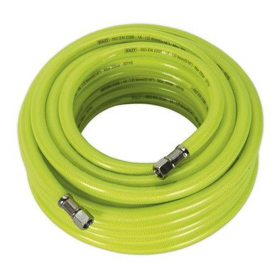 "Sealey Air Hose High Visibility 15m x Ø8mm with 1/4""BSP Unions"