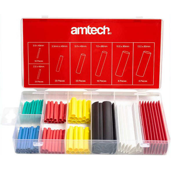 Amtech 127 Piece Colour Shrink Wrap Assortment