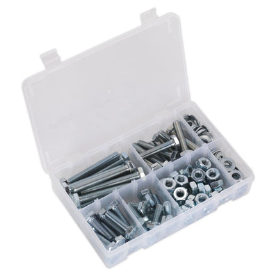 Sealey Setscrew, Nut & Washer Assortment 150pc High Tensile M10 Metric