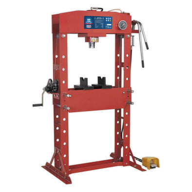 Sealey Premier Air/Hydraulic Press 50tonne Floor Type with Foot Pedal