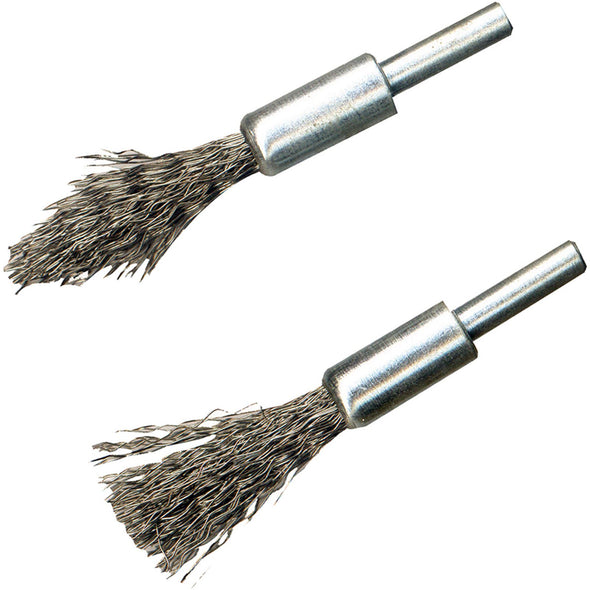 Silverline 2 Piece De-Carb Brush Set Rotary Carbon Engine Cleaner Garage
