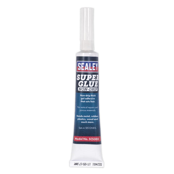Sealey Super Glue Non-Drip Gel 20g Pack of 20