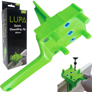 LUPA 30mm Quick Dowelling Jig E, L & T Joints 6, 8 & 10mm Dowel Drill Wood Joint