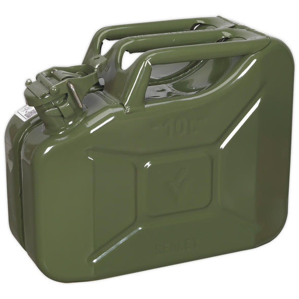 Sealey Jerry Can 10L Green Fuel Tank