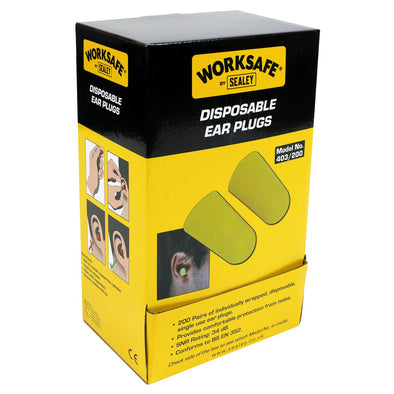 Worksafe by Sealey Ear Plugs Disposable - 200 Pairs