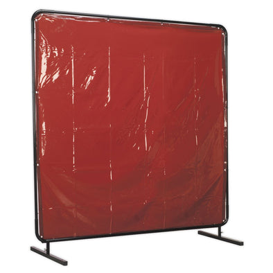 Sealey Workshop Welding Curtain to BS EN 1598 & Frame 1.8 x 1.75m