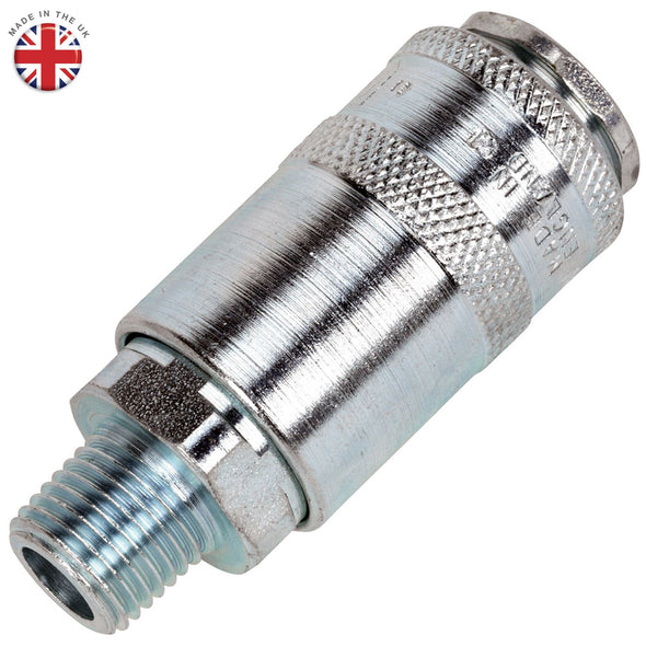 "Sealey 1/4"" BSPT Male Quick Coupler Air Line Fitting Connector Compressor"