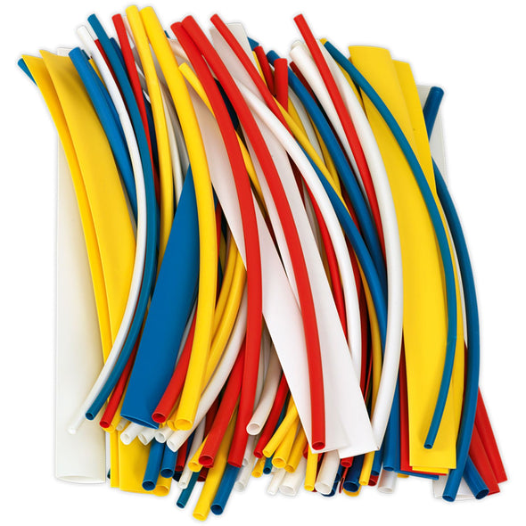 Sealey 200mm Heat Shrink Tubing Mixed Colours - Pack of 100
