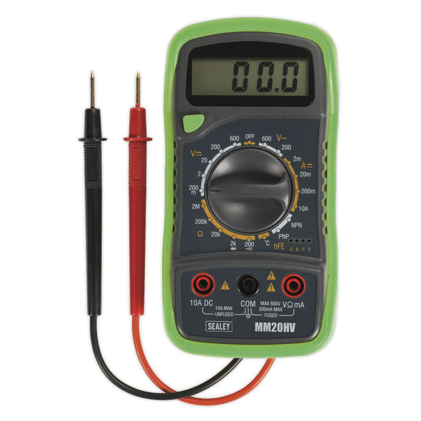 Sealey 8 Function Digital Multimeter with Thermocouple HV AC DC Current