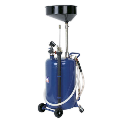 Sealey Mobile Oil Drainer with Probes 90L Air Discharge