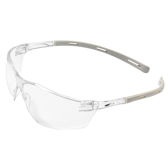 Swiss One Rigi Safety Glasses Light Grey Temples Clear Lens Anti Scratch