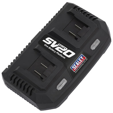 Sealey Dual Battery Charger 20V Lithium-ion for SV20 CP20V Series