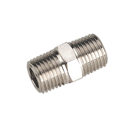 "Sealey Double Male Union 1/4""BSPT to 1/4""BSPT"