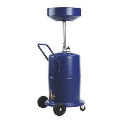 Sealey Mobile Oil Drainer 75L Pump Away