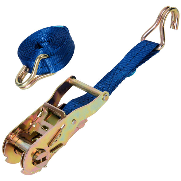 Silverline Ratchet Tie Down Strap Cargo Lash J-Hook 3900-4750kg