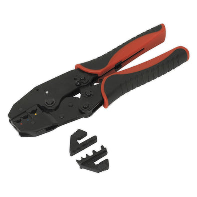 Sealey Ratchet Crimping Tool Interchangeable Jaws