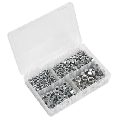 "Sealey Steel Nut Assortment 320pc 1/4""-1/2""UNF"