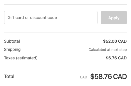Discount field layout in Shopify checkout