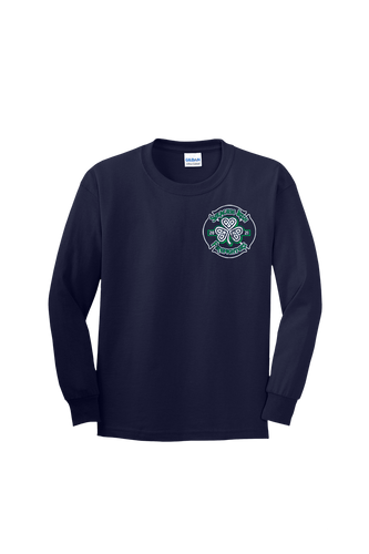 SF280 - Navy YOUTH Long Sleeve Shirt