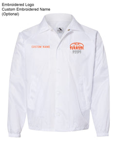 Hoops White Coaches Jacket