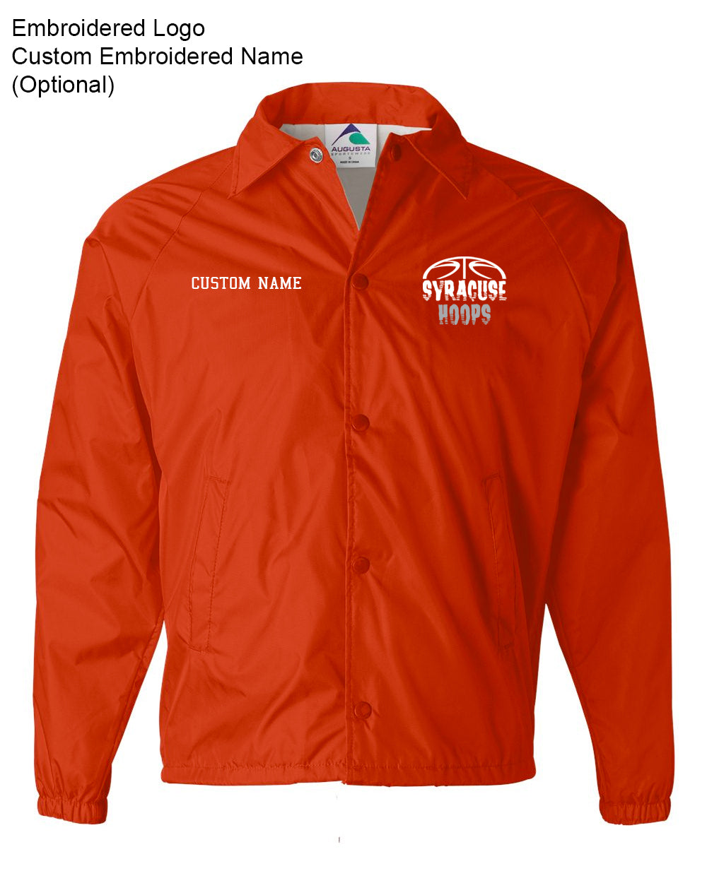 Hoops Orange Coaches Jacket