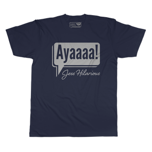 Ayaaaa - Unisex Navy Short Sleeve
