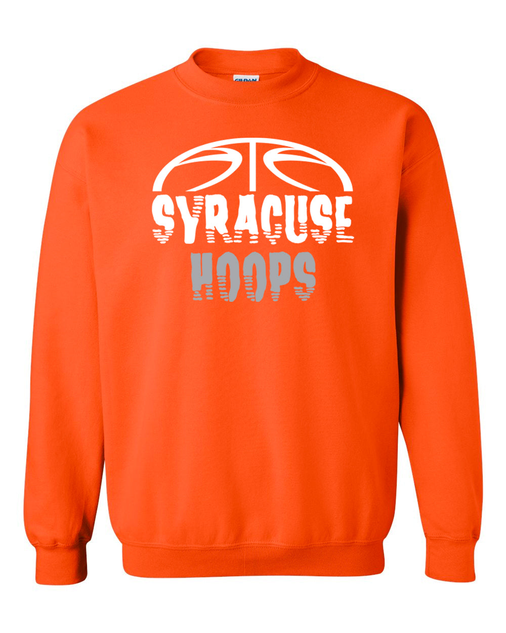 Hoops Orange Crewneck Sweatshirt