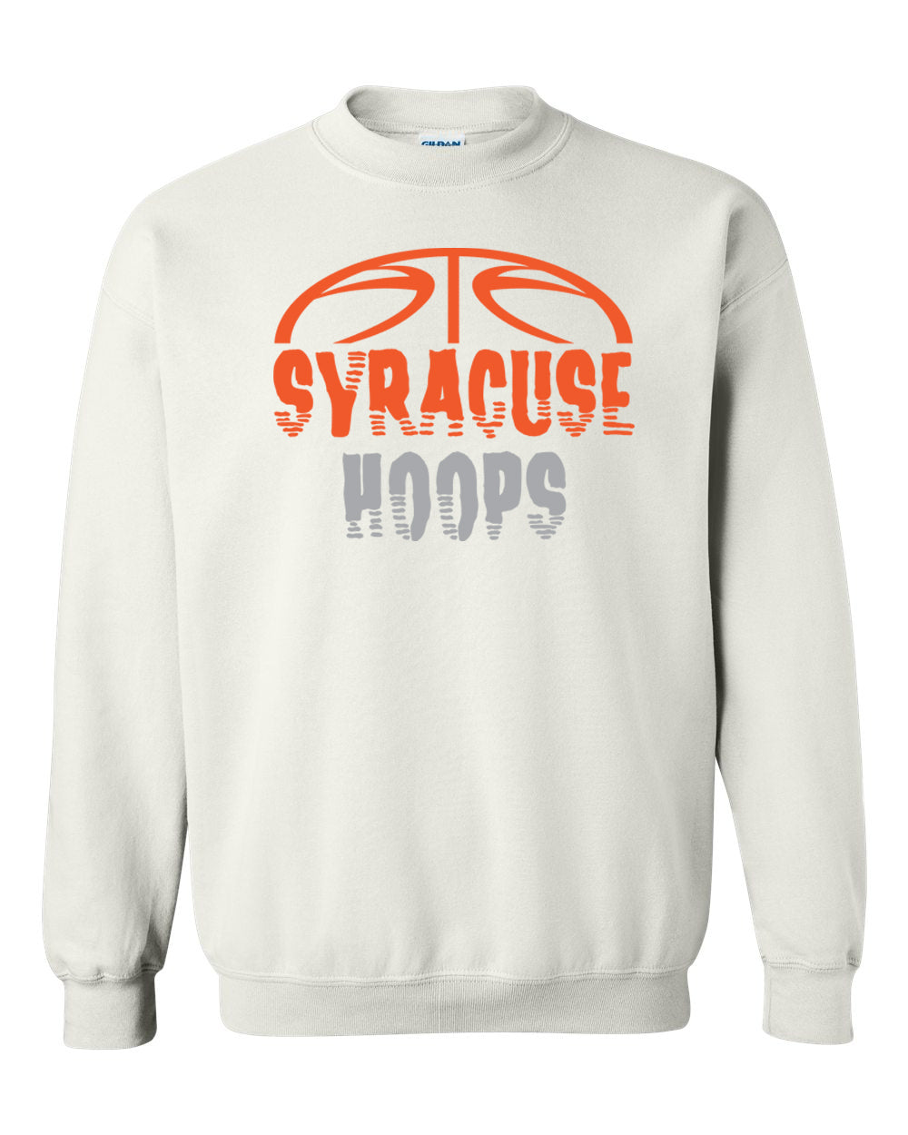 Hoops White Crewneck Sweatshirt