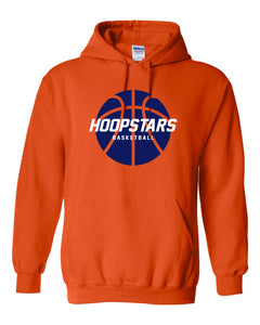 Hoops Orange Hooded Pullover Sweatshirt