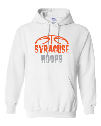 Hoops White Hooded Pullover Sweatshirt