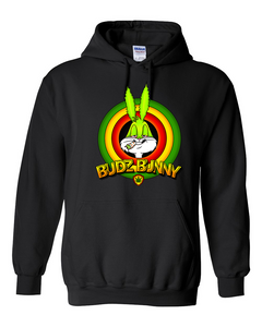 Budz Bunny Hooded Pullover - Black
