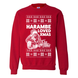 Harambe Loved Christmas Alt Ugly Christmas Sweater