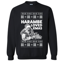 Load image into Gallery viewer, Harambe Loved Christmas Alt Ugly Christmas Sweater