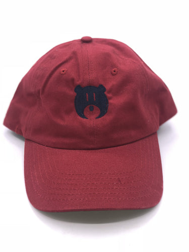 Red and Black Bear Logo - Hat