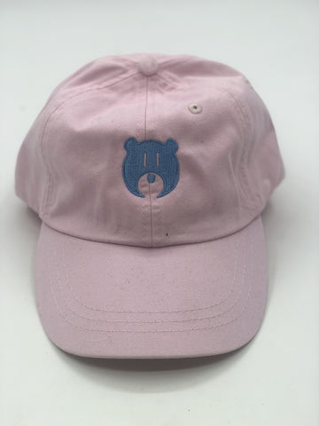 Pink and Blue Bear Logo - Hat