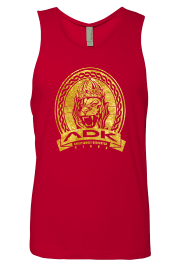 King Lion Tank Top - Red