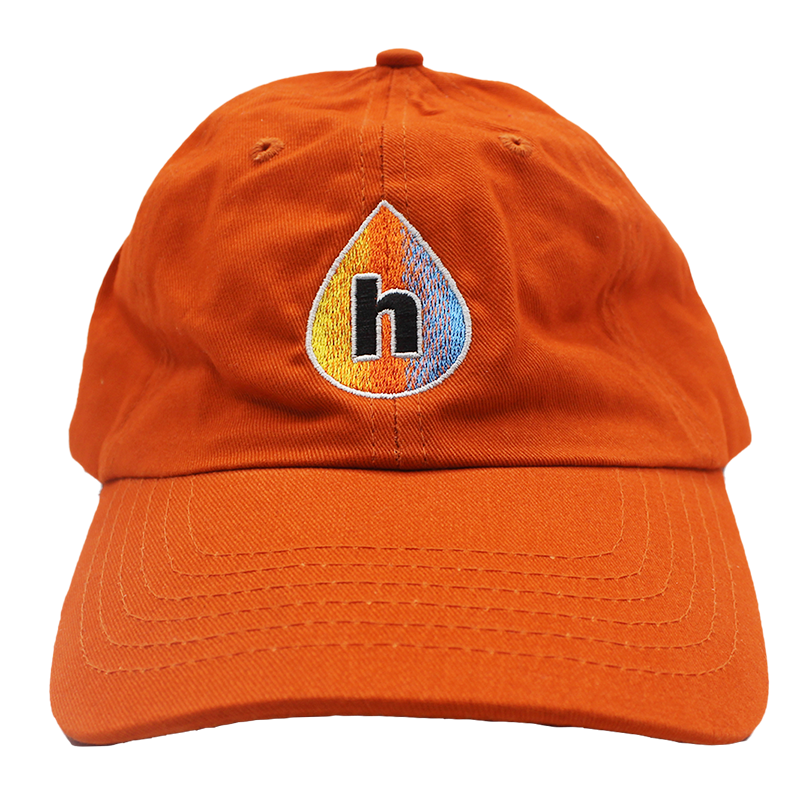 Print Hub - Drop Logo - Orange Dad Hat