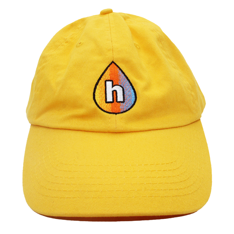 Print Hub - Drop Logo - Yellow Dad Hat