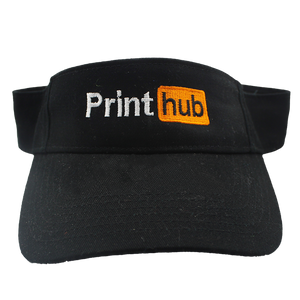 Print Hub - Black Golf Visor
