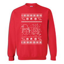 Load image into Gallery viewer, Rick and Morty Human Christmas Ugly Christmas Sweater