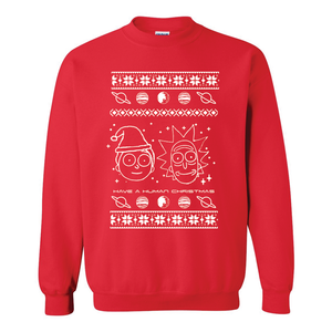 Rick and Morty Human Christmas Ugly Christmas Sweater