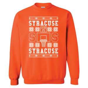 Syracuse Shot Clock Ugly Christmas Sweater